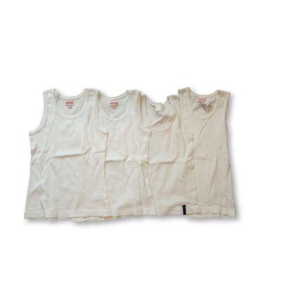 122-128-as fehér trikók, 4 db egyben - Oneway