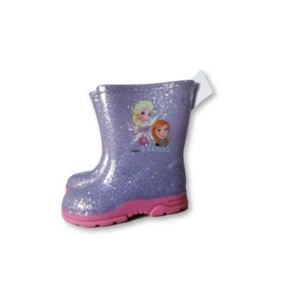 24-es lila csillogó gumicsizma - Frozen, Jégvarázs