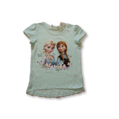 134-140-es türkiz póló - Frozen, Jégvarázs - H&M - ÚJ