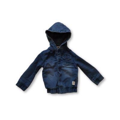 98-as kék farmer hatású pamut átmeneti kabát - Mini V
