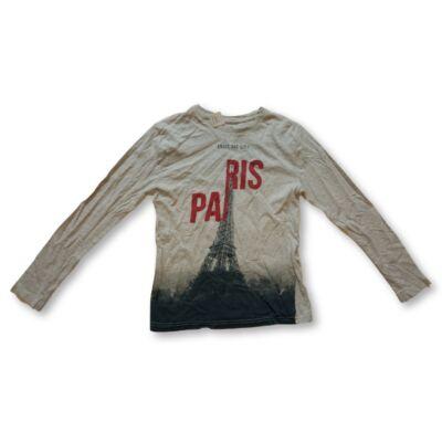 134-esszürke Párizsos, Eiffel tornyos pamutfelső