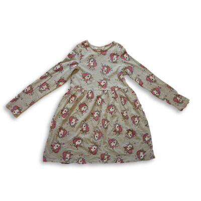 110-116-os szürke unikornisos ruha - H&M - ÚJ