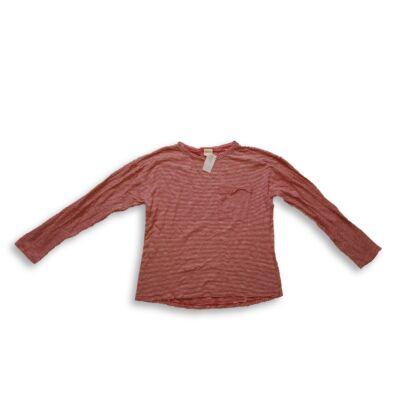 152-es piros-fehér csíkos lány pamutfelső - Zara