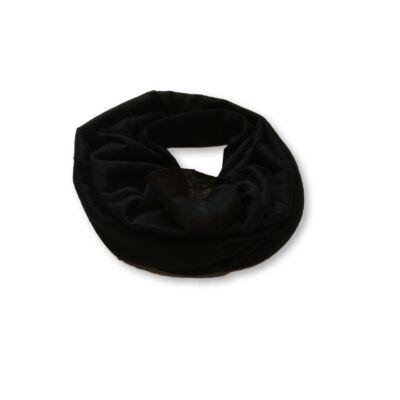 Polárral bélelt fekete nyaksál, körsál - ÚJ