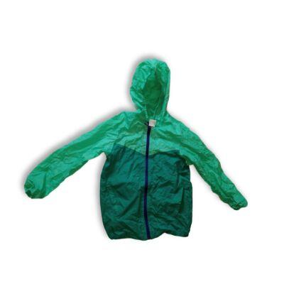128-134-es zöld széldzseki, esőkabát - Decathlon