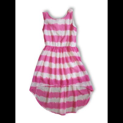 146-os rózsaszín-fehér ujjatlan lenge ruha - H&M