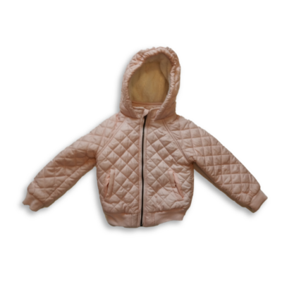 104-es rózsaszín steppelt télikabát - Pepco