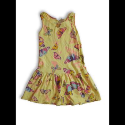 110-116-os sárga lepkés ruha - H&M