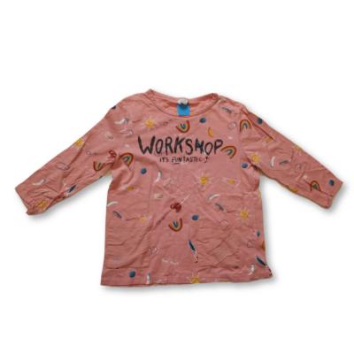 140-es barackszínű felesujjú feliratos pamutfelső - Zara
