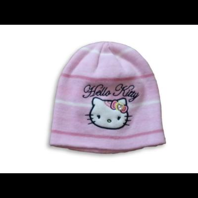 46-48 cm-es fejre rózsaszín kötött sapka - Hello Kitty