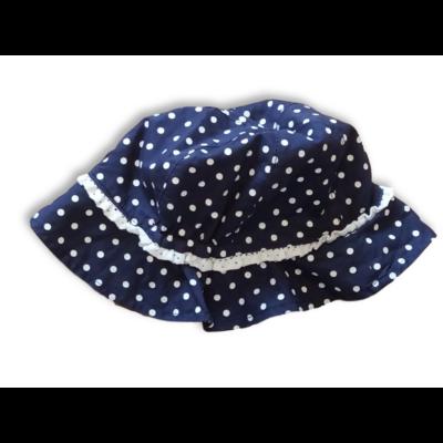 46-48 cm-es fejre kék-fehér pöttyös nyári kalap - Benetton