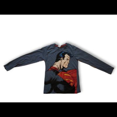 146-152-es szürkéskék pamutfelső - Superman