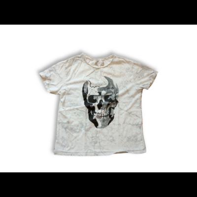 128-as fehér koponyás póló - Zara