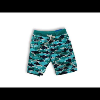 116-os zöld cápás vászon short - Kiki & Koko - ÚJ