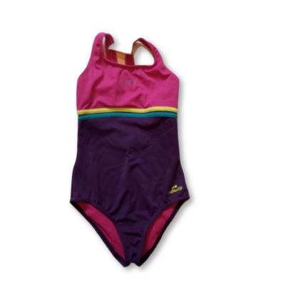 146-os pink-lila egyberészes fürdőruha - Decathlon