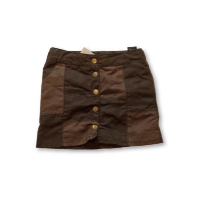 140-es barna hasított bőr jellegű szoknya - H&M
