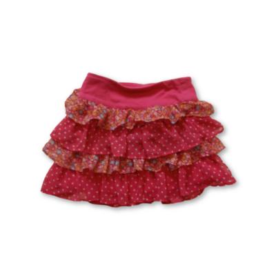 116-os rózsaszín fodros szoknya - Gorgeous