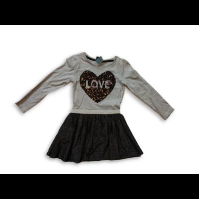 92-es szürke átfordítós simogatós ruha - Kiki & Koko - ÚJ