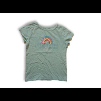 128-as világoskék feliratos-szivárványos lány póló - In Extenso