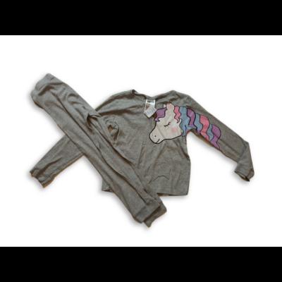 122-128-as szürke unikornisos pizsama - H&M