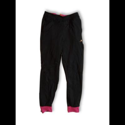 158-164-es fekete-pink sportnadrág, szabadidőnadrág  - Decathlon