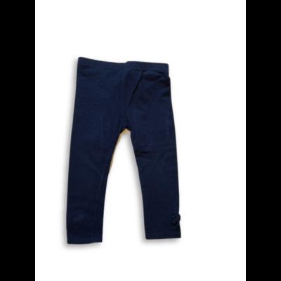 98-as sötétkék leggings, bokánál masnival - H&M