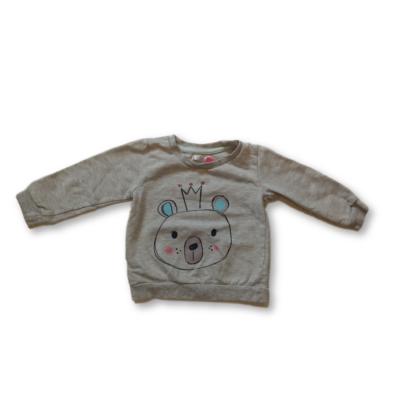 86-os szürke macis kislány pulóver - Pepco