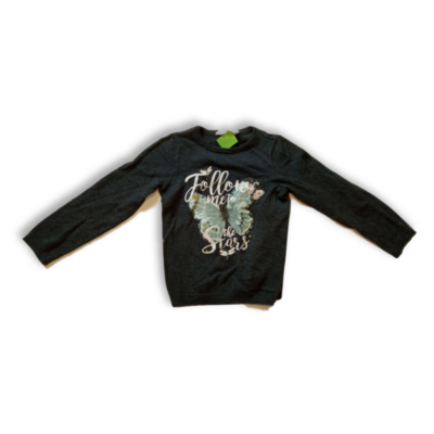 110-116-os szürke lepkés kötött pulóver - H&M
