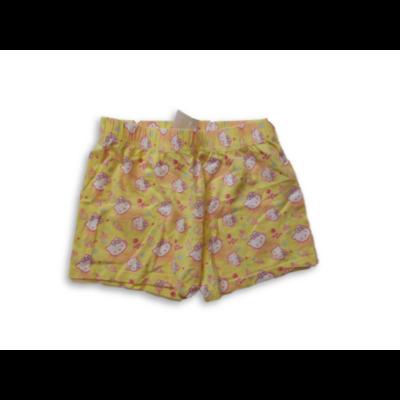 110-116-os sárga pamutshort, rövidnadrág - Hello Kitty
