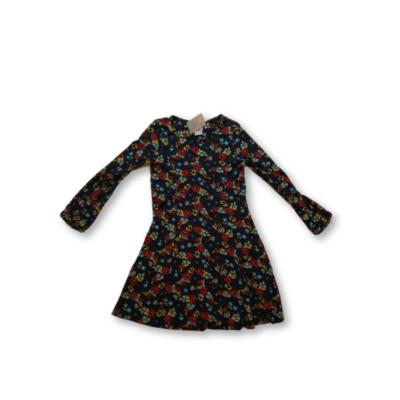 128-134-es kék virágos pamut ruha - H&M