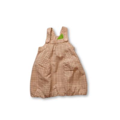 80-as barna-rózsaszín kockás melegebb ruha - Cherokee