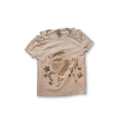 134-es fehér póló ezüst unikornissal - F&F