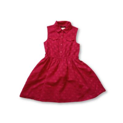 128-134-es pink pöttyös ujjatlan ruha - George