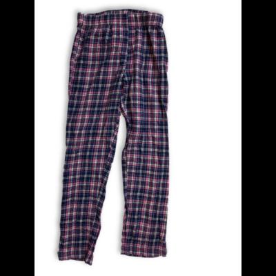 146-152-es kék-rózsaszín kockás pizsamaalsó - Pepperts