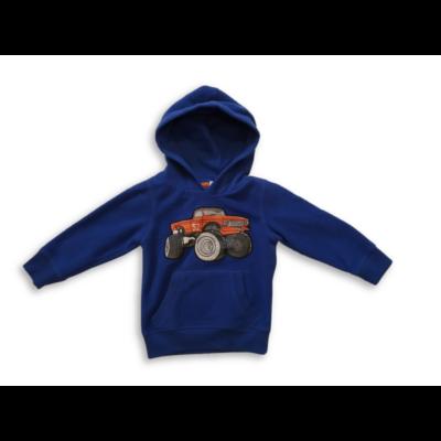 92-es kék polár Monster Truck mintás polóver - C&A