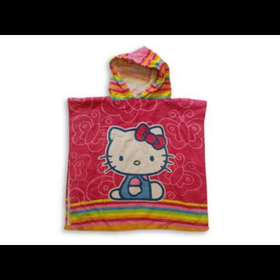 Rózsaszín frottír kapucnis törölköző,poncsó - Hello Kitty