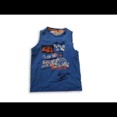 110-es kék ujjatlan teherautós póló