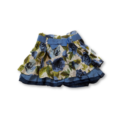 92-es kék virágos szoknya - Bows & Arrows
