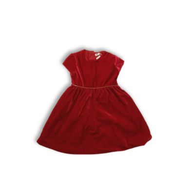86-os piros bársony alkalmi ruha - Pepco
