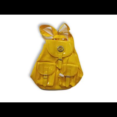 Sárga lakk kisméretű hátizsák