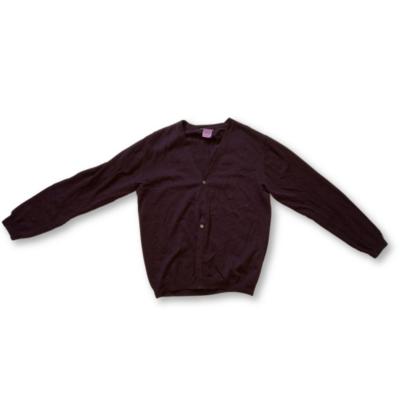Női XXL-es mályvaszínű vékony kötött kardigán - Finshley & Harding