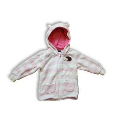 92-es rózsaszín-fehér csíkos szőrmés krdigán - Lupilu