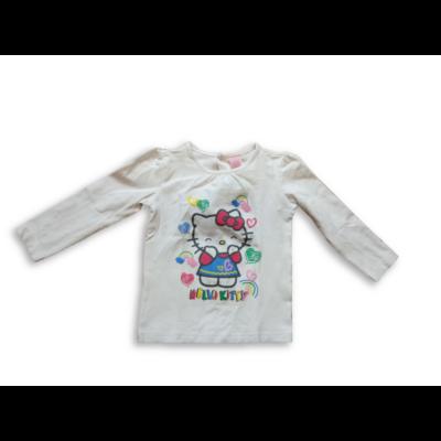 86-os fehér pamutfelső - Hello Kitty