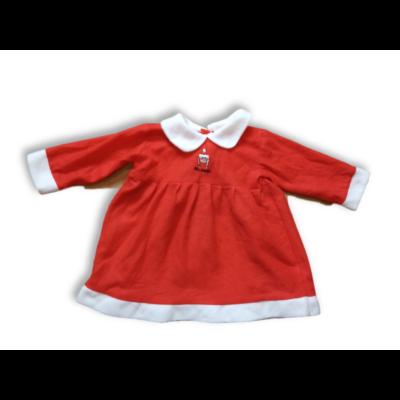 1-2 évesre piros filc mikulás kislány ruha