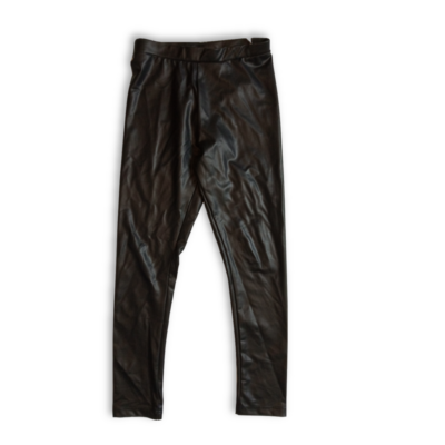128-as fekete bőrhatású nadrág - Zara