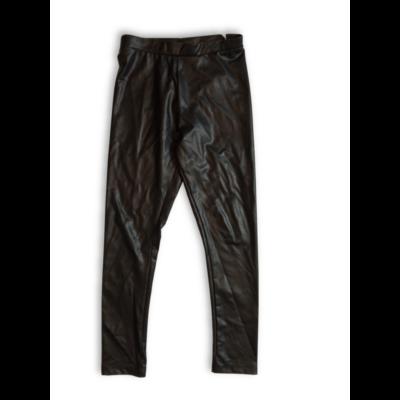 128-as fekete bőrhatású nadrág, leggings - Zara