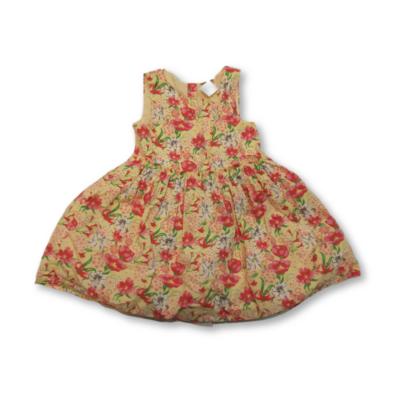 104-es sárga tüllel alábélelt pipacsos ruha - F&F