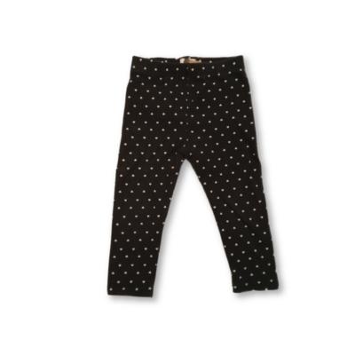 86-92-es fekete szivecskés leggings - F&F