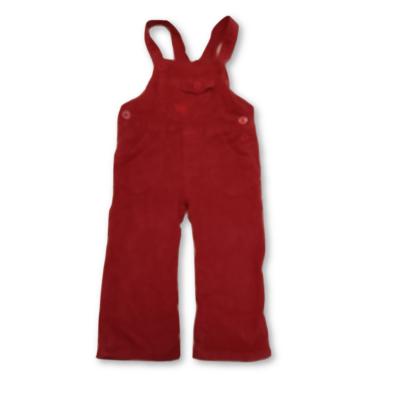 98-as piros polárral bélelt kantáros kordnadrág lánynak