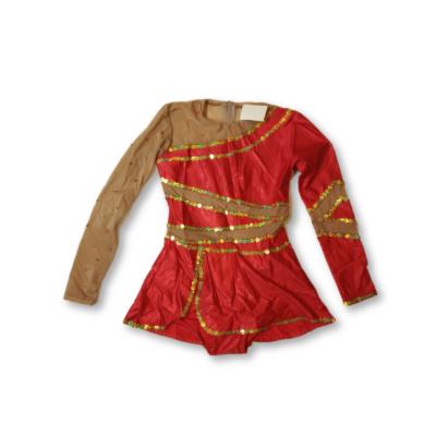 10-12 évesre piros-drapp táncruha, tornadressz